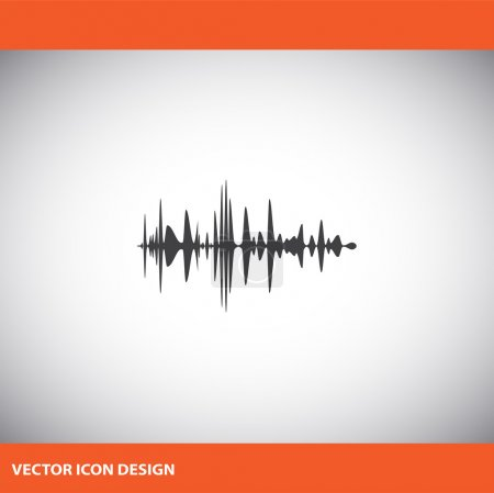 Audio signal vector icon