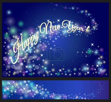 Happy New Year celebrations flyer, banner, poster or invitation