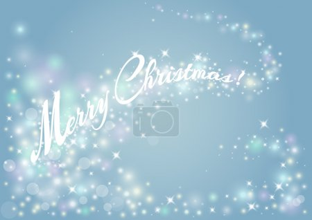 Decorative background for a Merry Christmas Greeting card with s