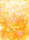 Merry Christmas and Happy New Year celebrations flyer banner poster or invitation with shiny text Merry Christmas message with lights shining stars