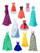 Set of prom dresses