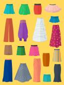 A diverse collection of skirts