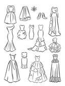 The contours of wedding dresses