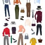 Постер, плакат: A set of clothes and accessories