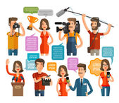 television and cinema icons set vector illustration