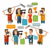 Journalism concept vector illustration in flat style Hot news template Mass media
