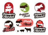 Farm vector logo meat food or livestock breeding icon