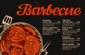 BBQ party Barbecue vector template of menu design restaurant or cafe
