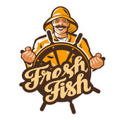 fisherman vector logo fisher angler or fishing icon