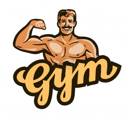 gym vector logo. sport, fitness or bodybuilding icon