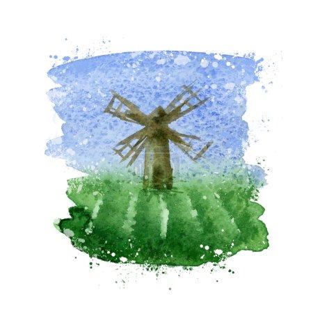 Windmill. Vector format
