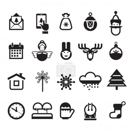 Christmas icons. Vector format