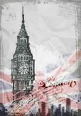 Big Ben London England UK Hand Drawn Illustration
