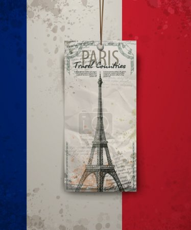Ilustración de Bosquejo del vector de la Torre Eiffel de París. Formato vectorial - Imagen libre de derechos