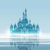 Středověký hrad. Ručně kreslenou vektorové ilustrace