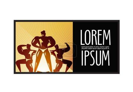 Sports logo design template. fitness or  Bodybuilding icon.