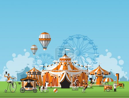 Abstract Classical Circus tent