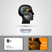 education vector logo design template science or thought icon