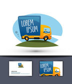 delivery vector logo design template truck or business icon