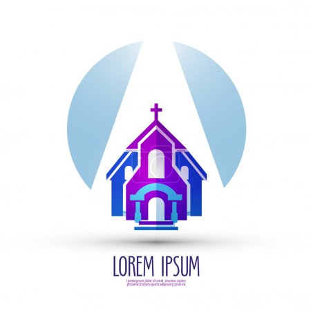 church vector logo design template. religion or temple icon.