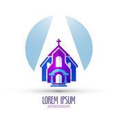 church vector logo design template religion or temple icon
