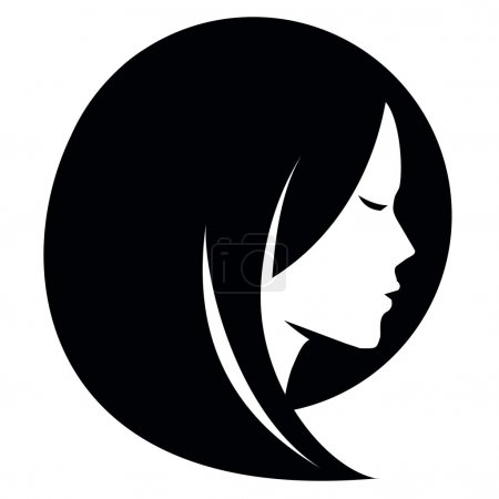 Illustration for Girl head on a white background. vector illustration - Royalty Free Image