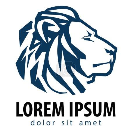 Illustration for Lion on a white background. vector illustration - Royalty Free Image
