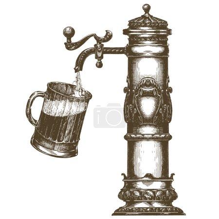 modèle de conception de logo vectoriel bière. icône de boisson alcoolisée .
