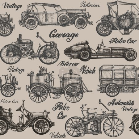 Vintage, retro cars. Background. banner, poster