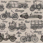 Vintage retro cars Background banner poster