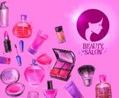 beauty salon vector logo design template cosmetics or makeup icon