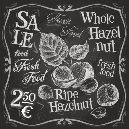 Hazelnut, walnut, nut logo design