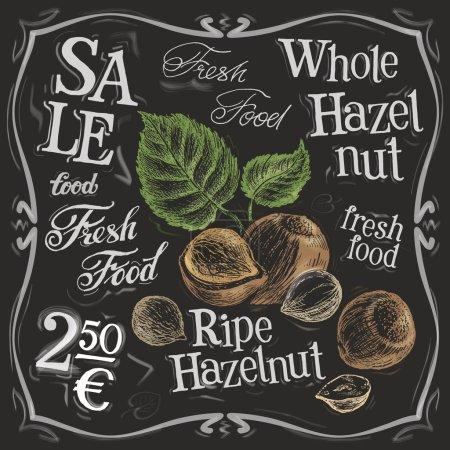 Whole hazelnut logo design template