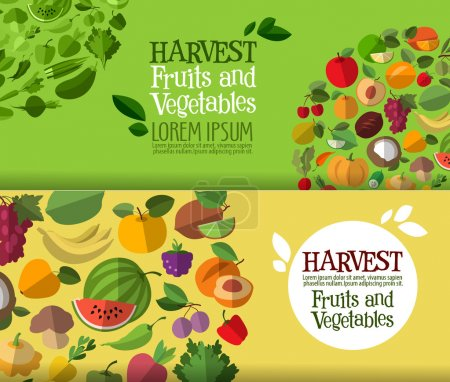 Fruits and vegetables logo design template