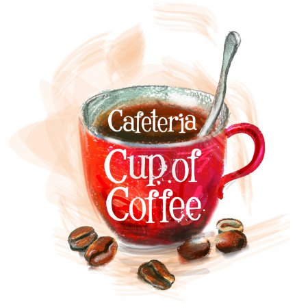 Fresh coffee vector logo design template. Hot drin...
