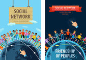 Šablona návrhu sociální sítě vektorové logo. přátelství nebo lidí, lidové ikony