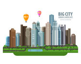 Big city vector logo design template Construction building or real estate icon