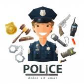 police vector logo design template policeman cop or law constabulary icon