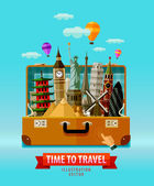 travel vacation vector logo design template countries of the world or round trip icon