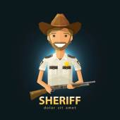 sheriff vector logo design template police LAPD or law constabulary icon