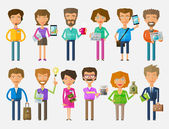 teamwork vector logo design template office or business people icons
