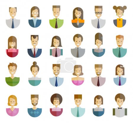 people, folk vector logo design template. office or education, user icons set