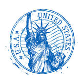 USA vector logo design template United States or statue of liberty New York icon