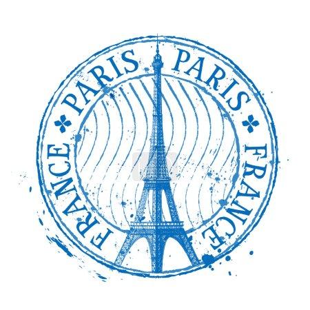 Illustration pour Tour Eiffel à Paris sur fond blanc. illustration vectorielle - image libre de droit