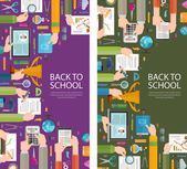 school vector logo design template education or learning icons