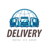 delivery vector logo design template truck or transport icon