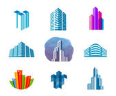 The city on a white background vector illustration