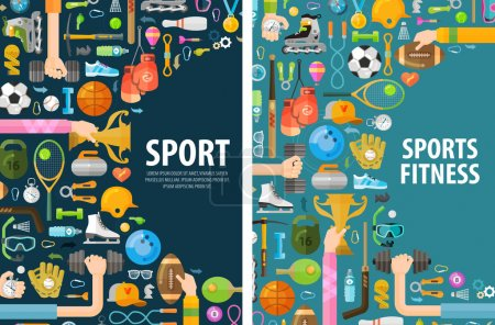 Illustration for Sports on a white background. vector illustration - Royalty Free Image