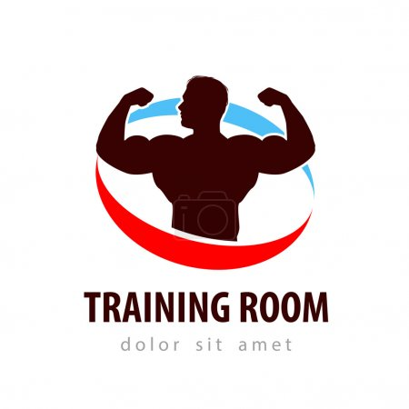 gym vector logo design template. health or bodybuilding icon