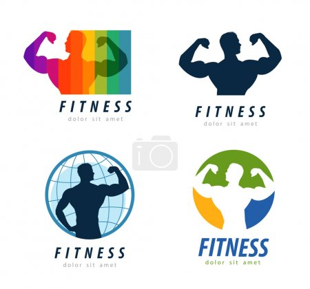 gym vector logo design template. health or fitness icon
